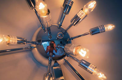 Photograph - Spider Light Reflected Portrait by T Brian Jones