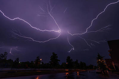 Photograph - Spider Lightning Over Dc by Jeff at JSJ Photography