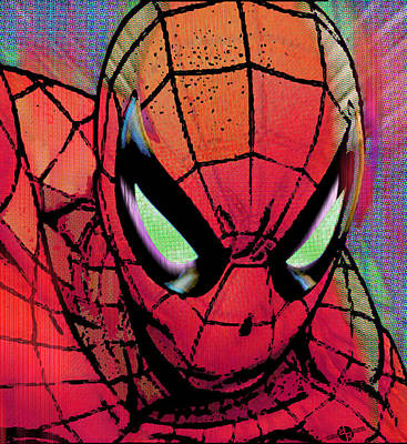 Spider-man Pop  Art Print by Tony Rubino