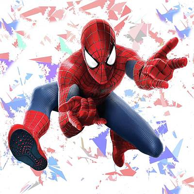 Spider Man Splash Super Hero Series Art Print