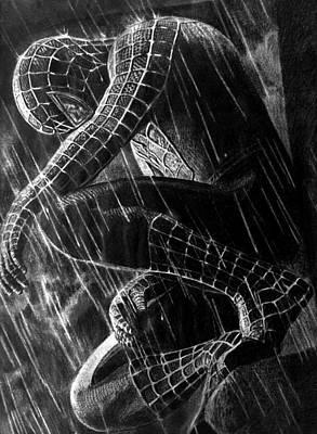 Spider Man Drawing - Spider-man by Stan Antonio