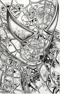 Spiderman Drawing - Spider-man's Foes by James Holko