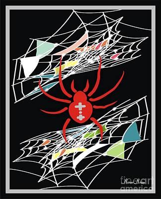 Spider Net - Inter Net Art Print