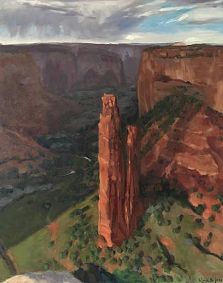Painting - Spider Rock, Canyon De Chelly by Elizabeth Jose