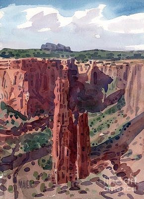 Navajo Painting - Spider Rock Overlook by Donald Maier