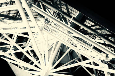 Photograph - Spider Roof Struts Abstract by John Williams