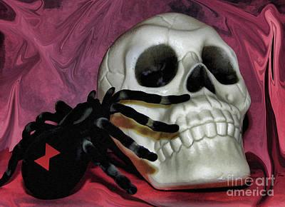 Photograph - Spider Skull by D Hackett