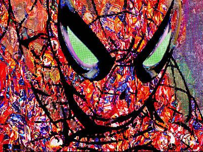 Super Hero Mixed Media - Spider by Tony Rubino