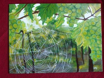 Spider Web In Spring Art Print by Jessica Meredith