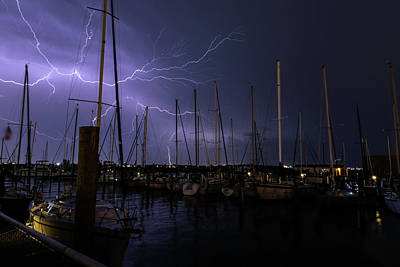 Photograph - Spider Web Lightning by Pete Federico