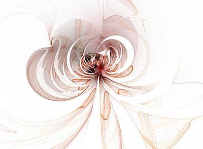 Framed Art Digital Art - Spiderlily by Amanda Moore