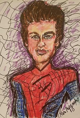 Spiderman Drawing - Spiderman Homecoming by Geraldine Myszenski
