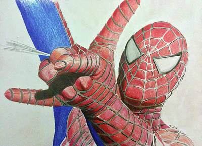 Drawing - Spiderman by Michael McKenzie