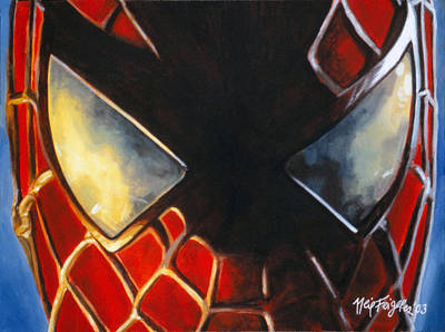 Spiderman Painting - Spiderman No. 4  by Neil Feigeles