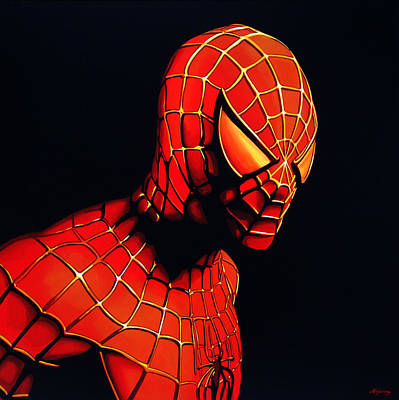 Character Portraits Painting - Spiderman by Paul Meijering