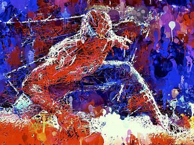 Mixed Media - Spiderman  by Al Matra