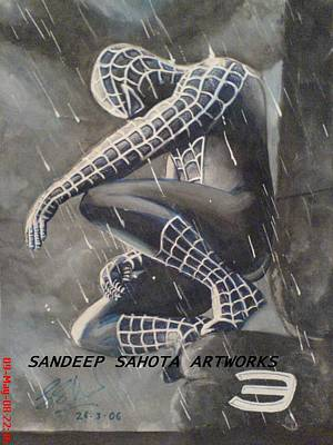 Orlando Bloom Drawing - Spiderman by Sandeep Kumar Sahota
