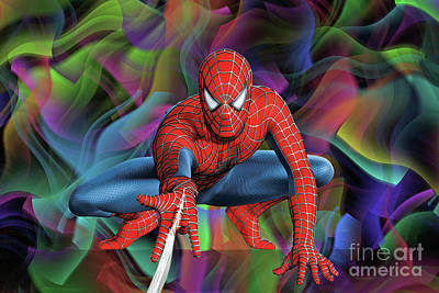 Digital Art - Spiderman by Steven Parker