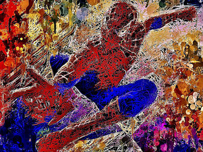 Mixed Media - Spiderman 2 by Al Matra