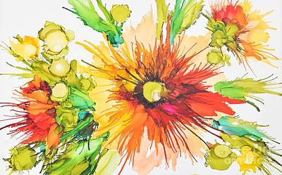 Alcohol Ink Wall Art - Painting - Spidermum Rum II by Marla Beyer