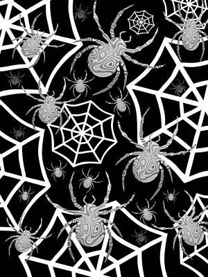 Digital Art - Spiders - Happy Halloween by Kathleen Sartoris