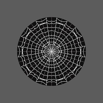 Wall Art - Digital Art - Spiderweb Mandala by Helen Krummenacker