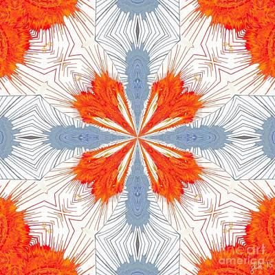 Fuzzy Digital Art - Spidery Construct by Lori Kingston