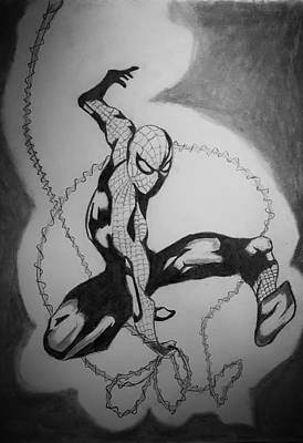 Spidey Drawing - Spidey by Ryan Williams