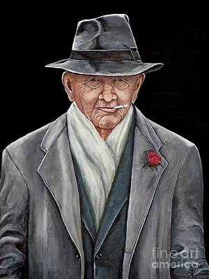 Art Print featuring the painting Spiffy Old Man by Judy Kirouac