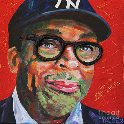 Mars Black Painting - Spike Lee Portrait by Robert Yaeger