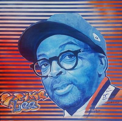 Knicks Painting - Spike Lee by Reuben Cheatem