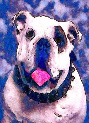 Dog Rescue Digital Art - Spike The Bulldog by Raven SiJohn