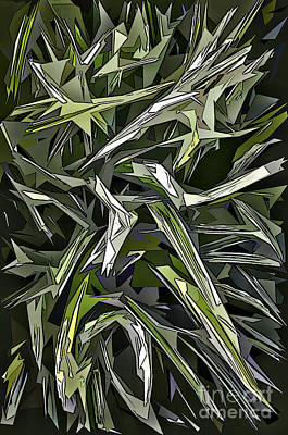 Digital Art - Spiked Leaves by Walt Foegelle