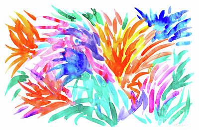 Painting - Spikey Garden by Expressionistart studio Priscilla Batzell