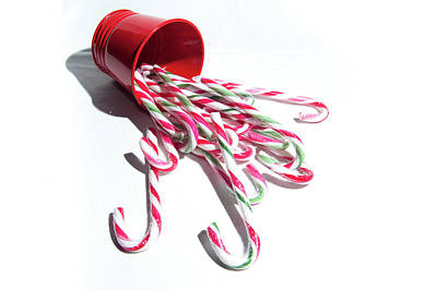 Spilled Candy Canes Art Print