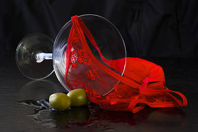 Martini Royalty-Free and Rights-Managed Images - Spilled martini with red panties by Gavin Baker