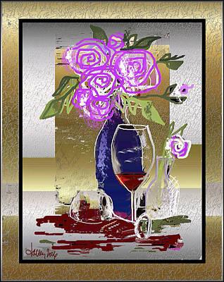 Digital Art - Spilled Wine by Larry Talley