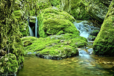 Photograph - Spilling Over Dolomite 2 by Bonfire Photography
