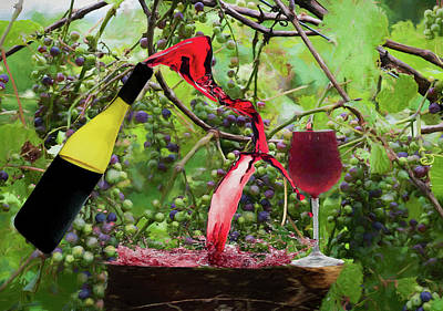 Photograph - Spilling Wine Is Not Fine 2 by Dan Friend