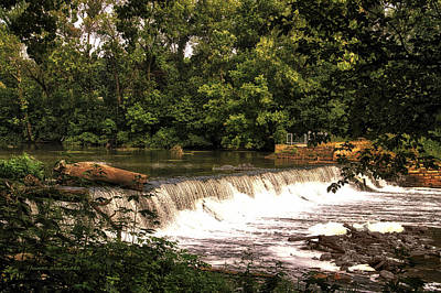 Spillway Early Morning Art Print by Thomas Woolworth
