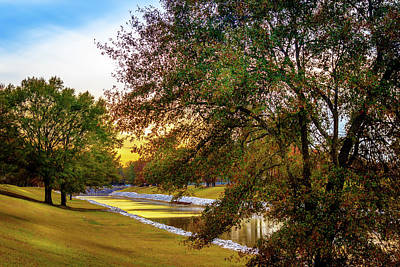 Photograph - Spillway Levee - Scenic Landscape by Barry Jones