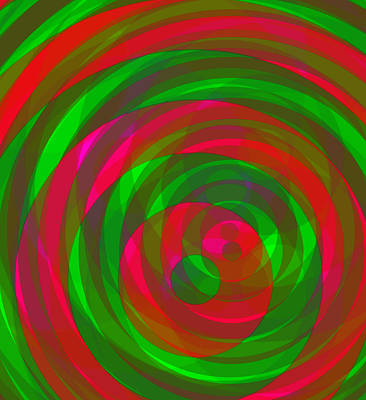 Digital Art - Spin 1 by Julia Woodman