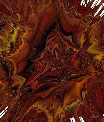 Painting - Mushroom Exploding Out Of The Vortex by Lori Kingston