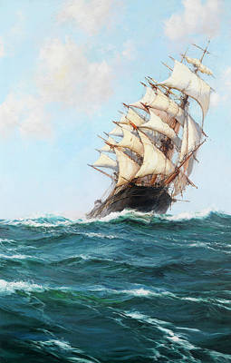Water Vessels Painting - Spindrift by Montague Dawson
