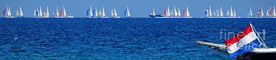 Photograph - Spinnakers On The Horizon by Lainie Wrightson