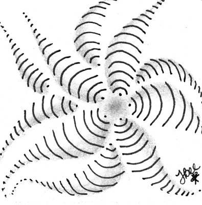 Drawing - Spinner by Jan Steinle