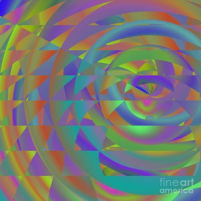 Digital Art - Spinning Abstractly 2 by Mary Machare