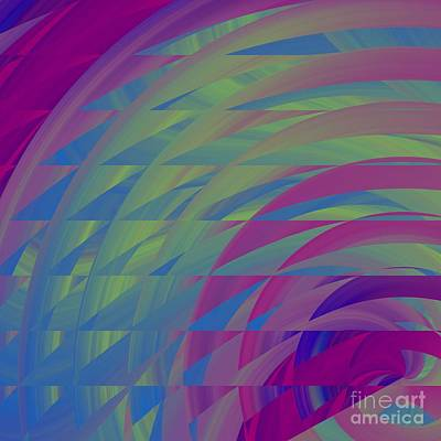 Digital Art - Spinning Abstractly 3 by Mary Machare