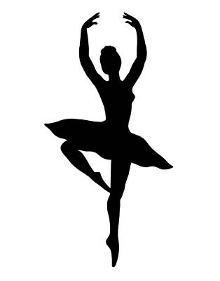 Painting - Spinning Ballerina Silhouette by Irina Sztukowski