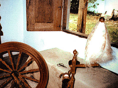 Photograph - Spinning Cotton Yarn by Merton Allen